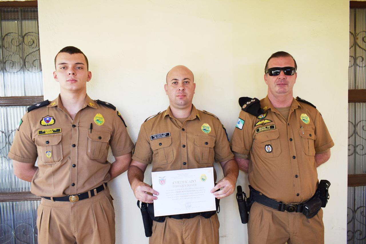 2ª Cia da Polícia Militar destaca policial do mês